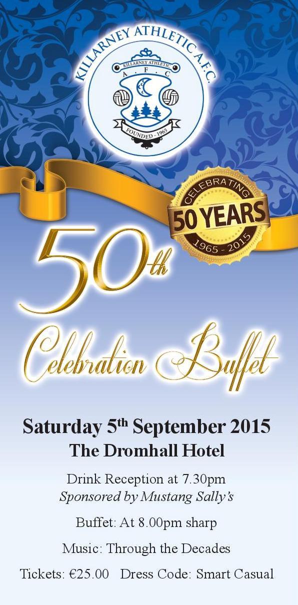 50th Anniversary Dinner 5th September